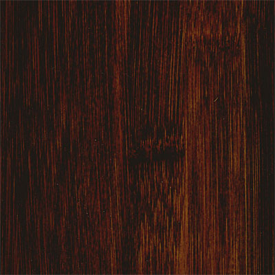 Hawa Black Stained Distressed Solid Bamboo Black Stained